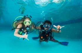 Cours de plongée sous marine